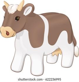 Plush toy cow