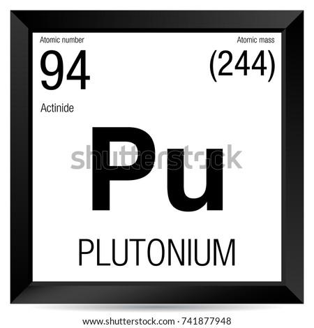 Plutonium Symbol Element Number 94 Periodic Stock Vector Royalty