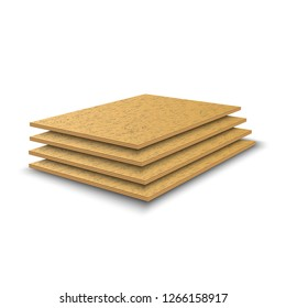 Plywood sheets. Building materials made of wood. Vector illustration.