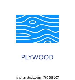 Plywood vector icon
