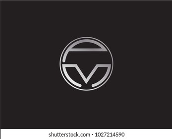 PM circle Shape Letter Design