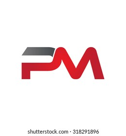 PM company group linked letter logo