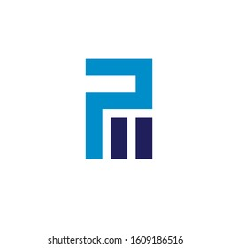 pm logo design simple modern template