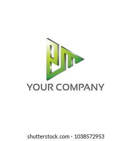 PM - Logo Template 100 percent vector, Fully editable 100 percent Resizable vector EPS documents