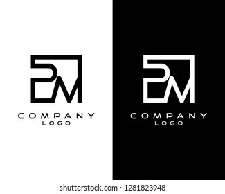 pm/mp Letters Logo Design. Simple and Creative Letter Concept Illustration vector