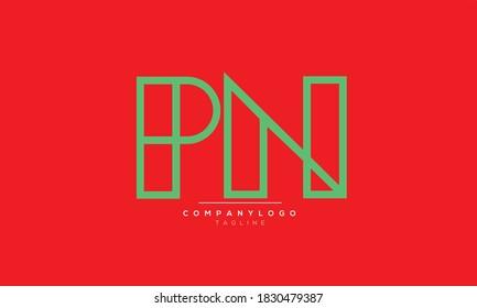 PN abstract initials monogram letter text alphabet logo design