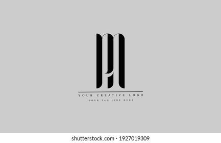 PN NP abstract vector logo monogram template