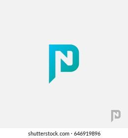 PN / NP logo initial vector mark