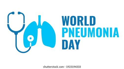 Pneumonia awarness day vector icon on white background