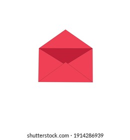 png valentine's day envelope icon in red color vector isolated
