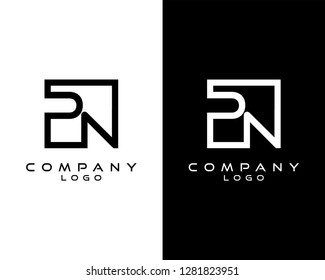 pn/np Letters Logo Design. Simple and Creative Letter Concept Illustration vector