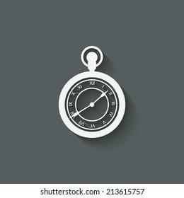 Pocket watch design element - vector illustration. eps 10
