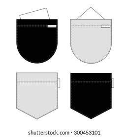 Pockets set. Vector.