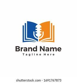 podcast books, learn podcasts, song lyrics - badge sticker logo designs inspiration