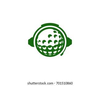 Podcast Golf Icon Logo Design Element