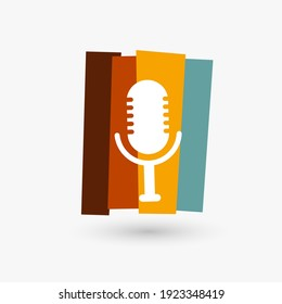 Podcast graphic trendy Abstract logo design.