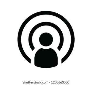 podcast icon vector