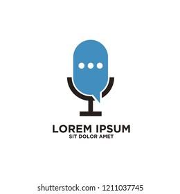 podcast logo icon designs vector