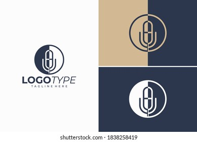 podcast logo icon vector isolated
