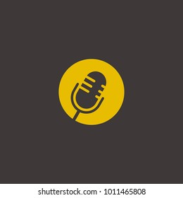 podcast mic graphic vector logo abstract