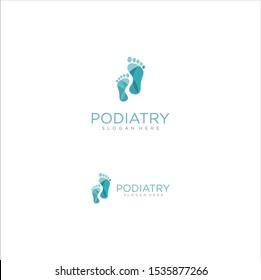 Podiatry Logo Isolated on white background . Foot Care Logo Icon Design . Foot Print Logo .