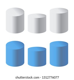 Podium isolated 3d vector. Podium and stand circular