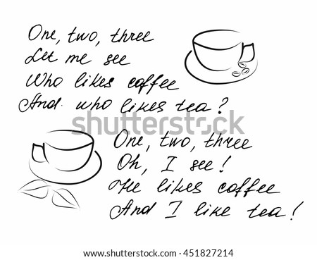 bfa704a9525c9d Poem About Coffee Stock Vector (Royalty Free) 451827214 - Shutterstock