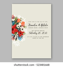 Wedding Invitation Card Flower Rose Text Stock Vector Royalty Free