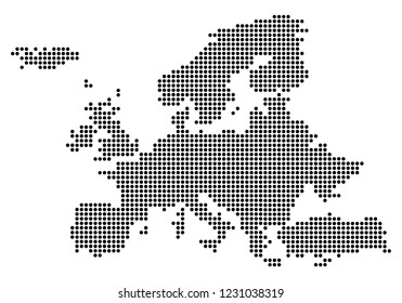 Point - Dotted Europe Map.