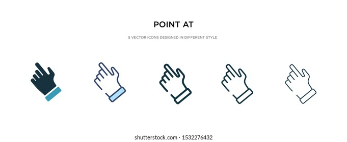 point at icon in different style vector illustration. two colored and black point at vector icons designed in filled, outline, line and stroke style can be used for web, mobile, ui