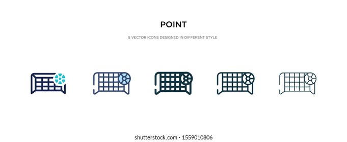 point icon in different style vector illustration. two colored and black point vector icons designed in filled, outline, line and stroke style can be used for web, mobile, ui