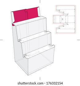 Point of Product Display Stand with Blueprint
