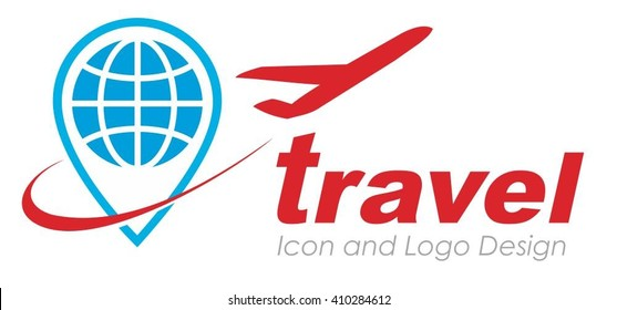 Point Travel Logo. Travel trip round the world symbol.