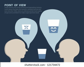Point of View Concept, Vector EPS10