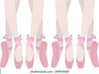 pointe shoes ballet ballerina dancer vector