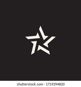 Pointed star flat vector icon. Rating flat vector icon. Stylized linear shape star logo design template. Modern abstract illustration with lines. Graphic fashion symbol. Award success logotype concept