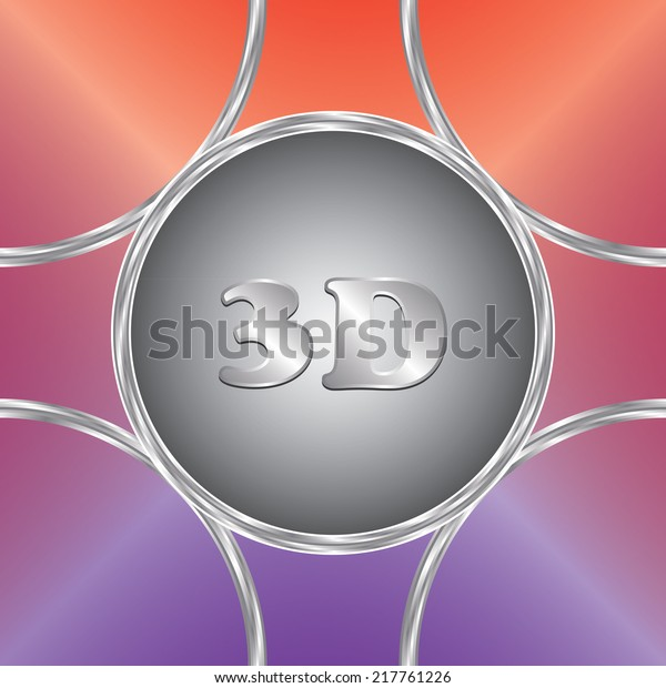 Pointer 3d Icon Vector Button Colorful Stock Vector