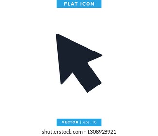 Pointer Arrow Icon Vector Design Template. Click Sign