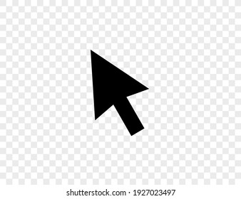 Pointer, cursor, arrow icon on transparent background. Vector illustration.