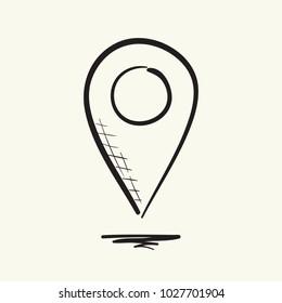 Pointer icon. Hand drawn vector illustration.