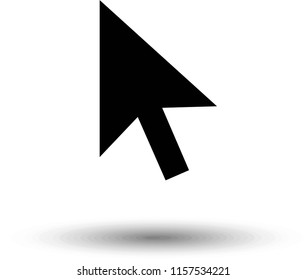 Pointer Icon isolated on grey background. Line Cursor symbol for web site design, logo, app, UI. Editable stroke. Vector illustration. EPS10