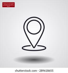 pointer .line vector icon