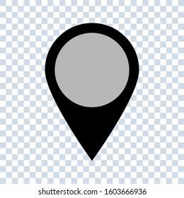 Pointer location icon vector illustration. editable simple icon