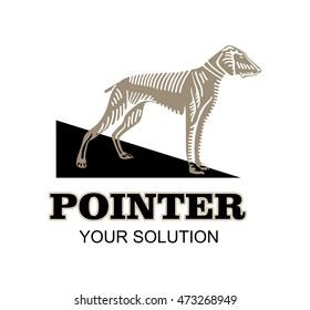 Pointer logo icon emblem vector