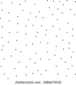 Pointillism low density seamless dots pattern. Abstract monochrome halftone. Just drop to swatches and enjoy! EPS 10 vector file