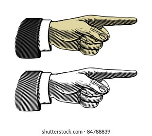 Pointing finger (Vector illustration)