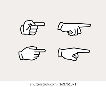 pointing hand icons
