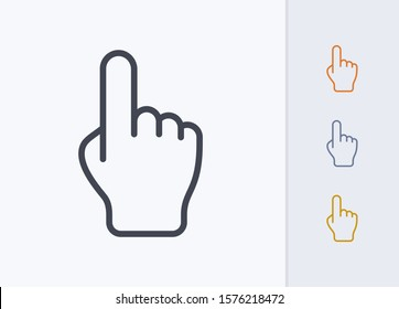 Pointing Hand - Pastel Stroke Icons. A professional, pixel-aligned icon.
