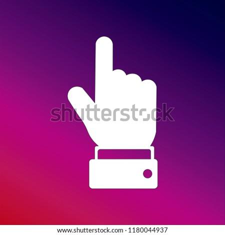 Pointing Icon Vector Illustrator Creative Design Stock