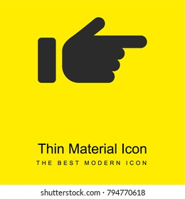 Pointing Right bright yellow material minimal icon or logo design